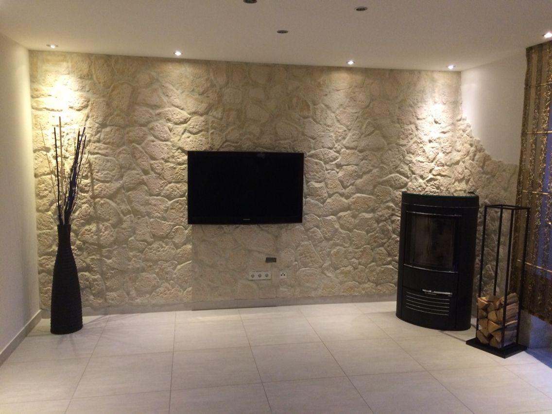 Steinoptik wanddeko wohnwand wanddeko steinoptik pinterest - Wandfliesen steinoptik wohnzimmer ...