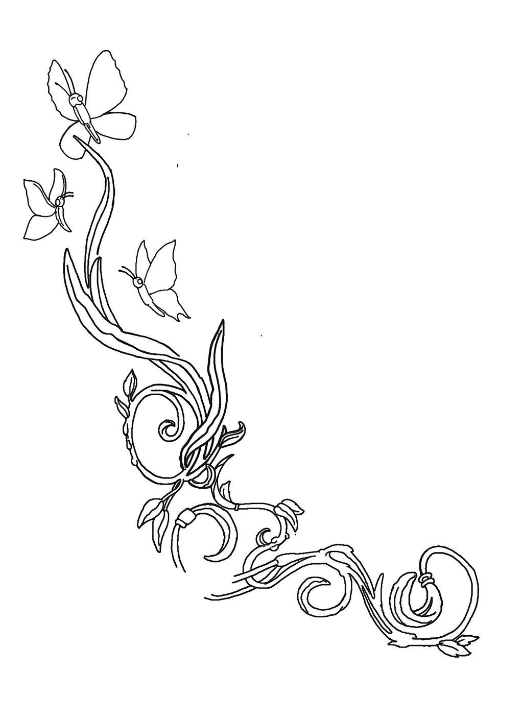 butterfly on daisy flower tattoo design real photo pictures