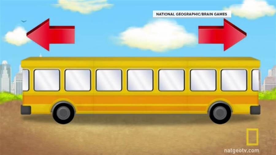Brain Games Which Way Is The Bus Driving Brain Teaser Courtesy Of