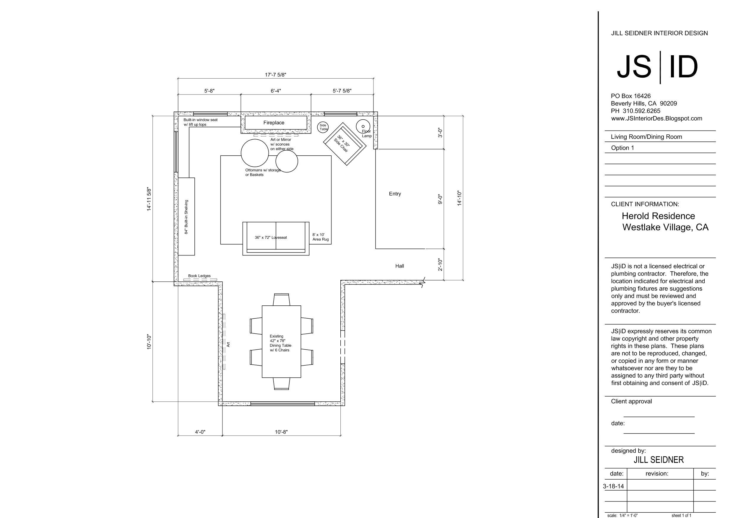Westlake Village Ca Residence Living Dining Room Furniture Floor Plan Layout Option 1 Www Jsinteriordes B Floor Plan Layout Interior Design Drawings Design