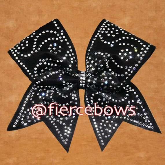 Paisley Princess Rhinestone Cheer Bow by MyFierceBows on Etsy