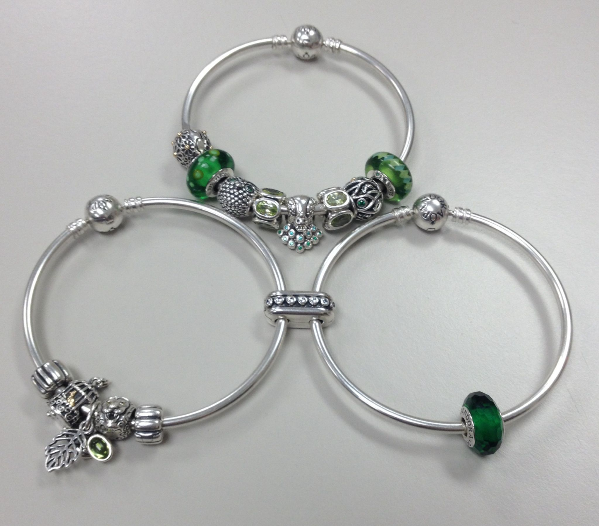 Cool PANDORA bangle bracelets PANDORAbracelet Silver Green