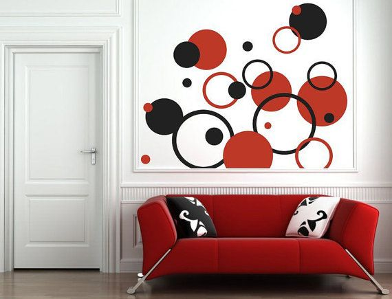Wall Sticker Circles 051n by artstickercouk on Etsy