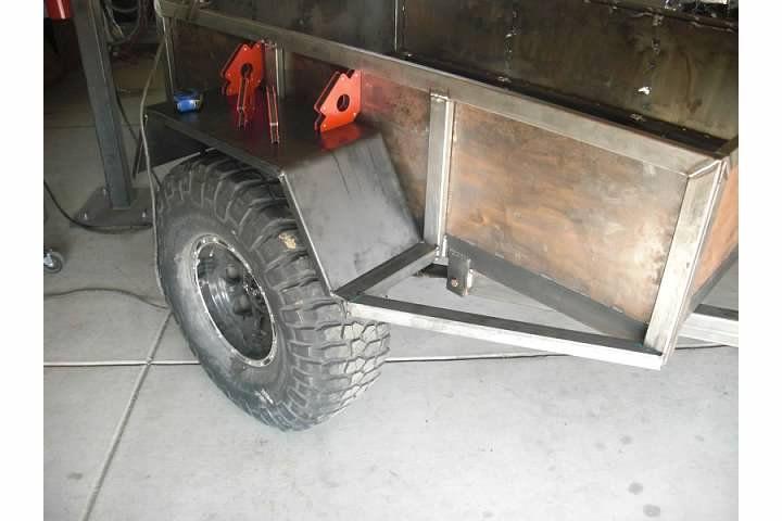 Trailer Fender Boxes : Homemade trailer fenders ftempo