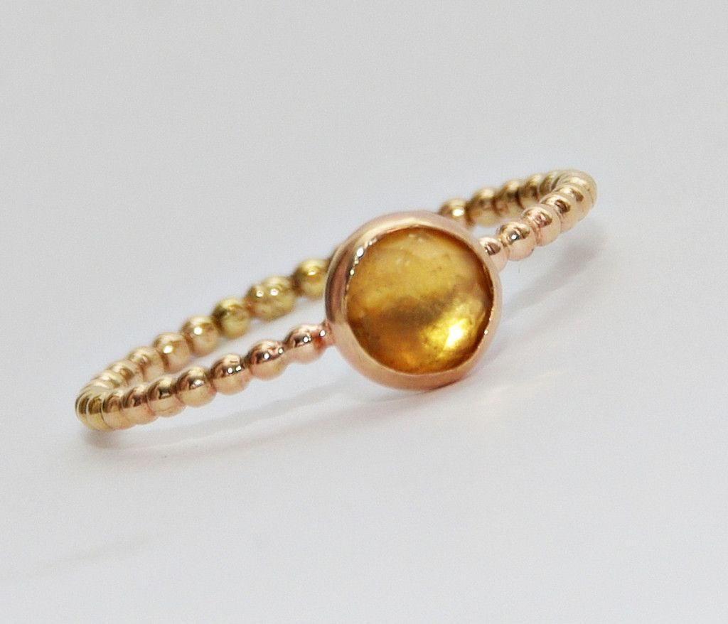 Elegant Citrine Ring Citrine Stackable Birthstone Ring Stacking Rings Bridesmaids Ring Wedding Jewelry