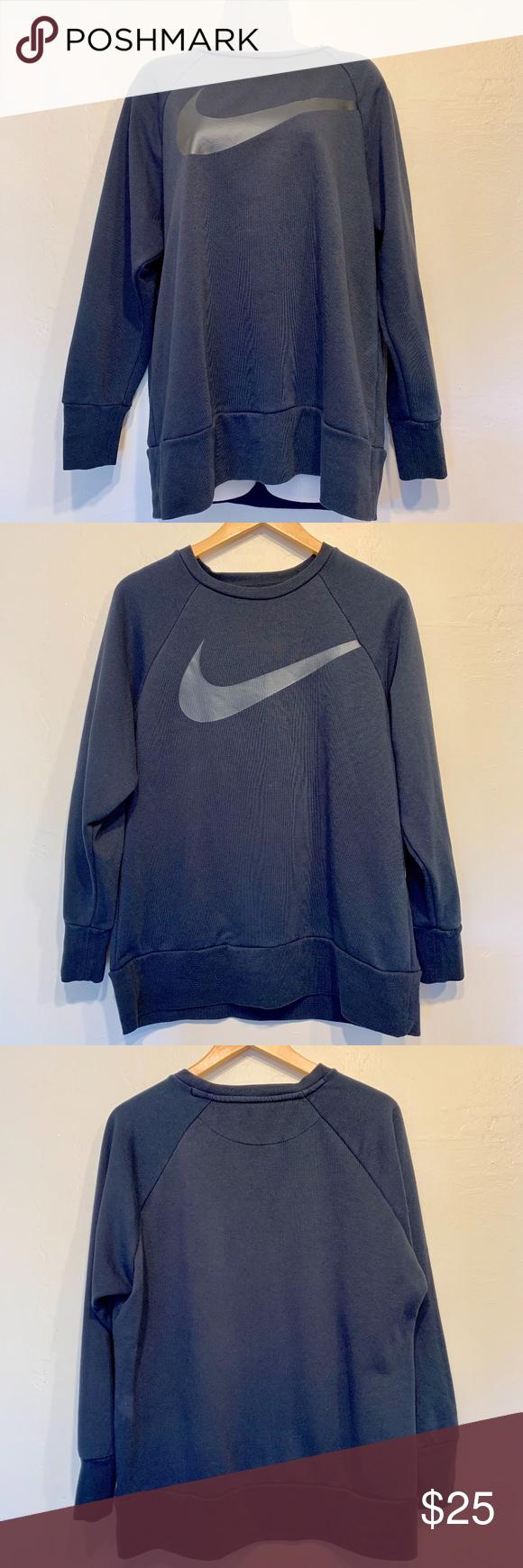 Nike Dri Fit Unisex Athletic Swoosh Sweatshirt Clothes Design Nike Dri Fit Running Sweatshirt [ 1740 x 580 Pixel ]