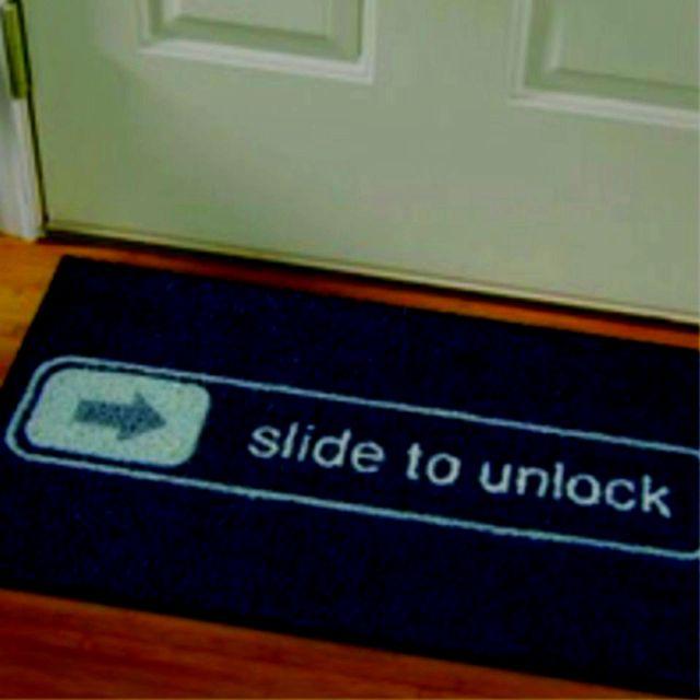 slide to unlock mat