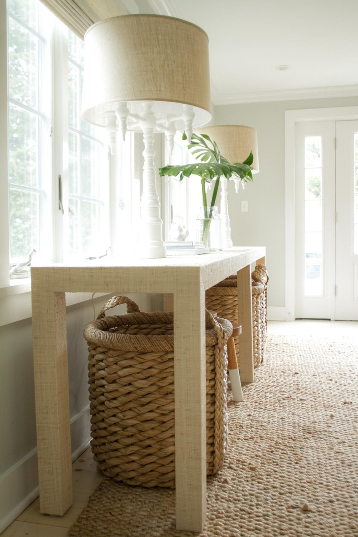 Grasscloth Console Table Custom Built Design Your Own