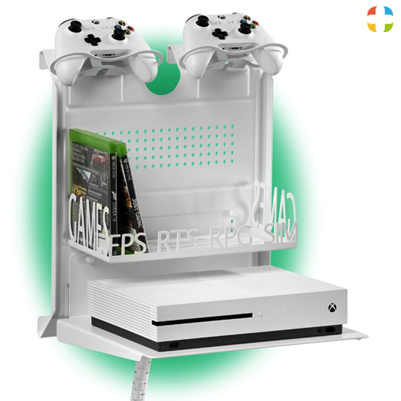 Check Out This Gameside Bundle Big Daddy Game Console Horizontal Wall Mount With Multicolor Led Light Creat With Images Small Game Rooms Video Game Rooms Gaming Room Setup