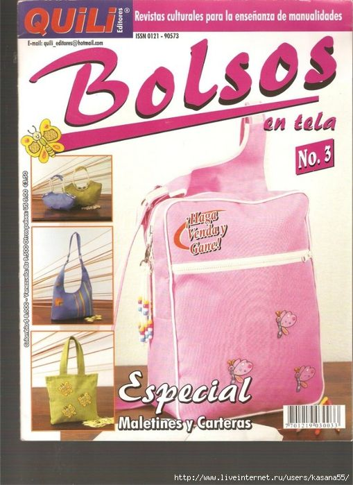 Magazine complet  BOLSOS EN TELA Nº 3 001