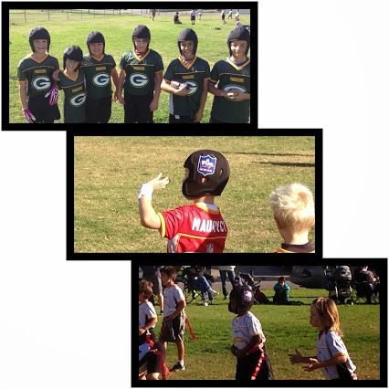 Kids From Different Flag Football Teams Rock The Rs1 In Sunny Southern California Flag Football Different Flags Football Team