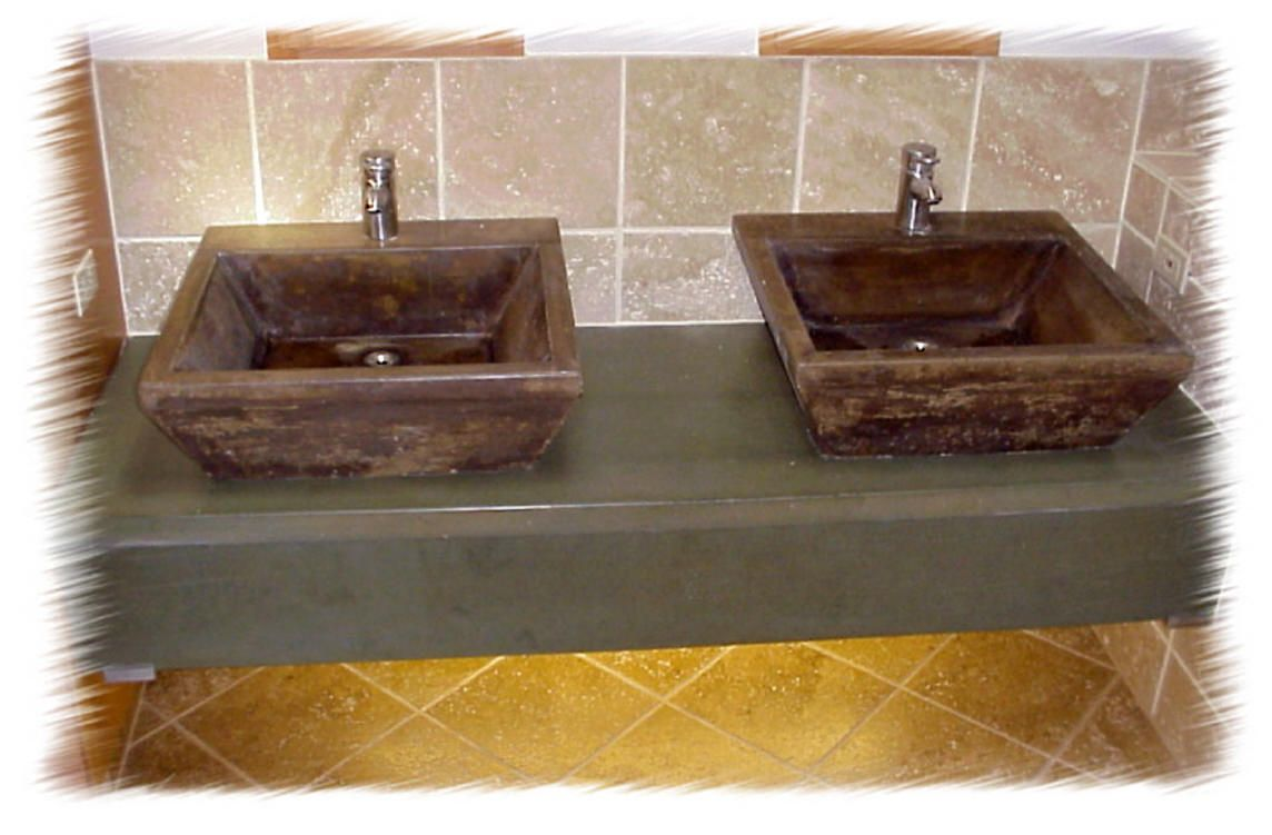 Concrete Countertop With Pedestal Sinks Dream Home