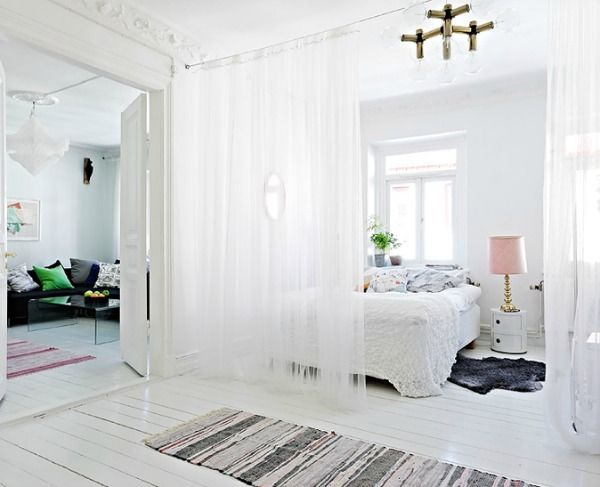 Gordijnen Als Roomdivider : Roomdivider gordijn slaapkamers