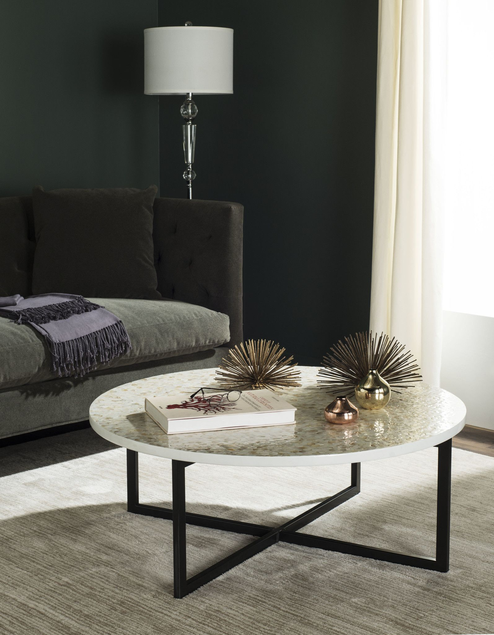 Safavieh cheyenne coffee table metal types and products