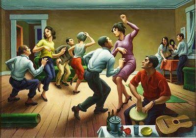 Thomas Hart Benton The Twist 1964 Thomas Hart Benton Paintings Thomas Hart Benton Art Thomas