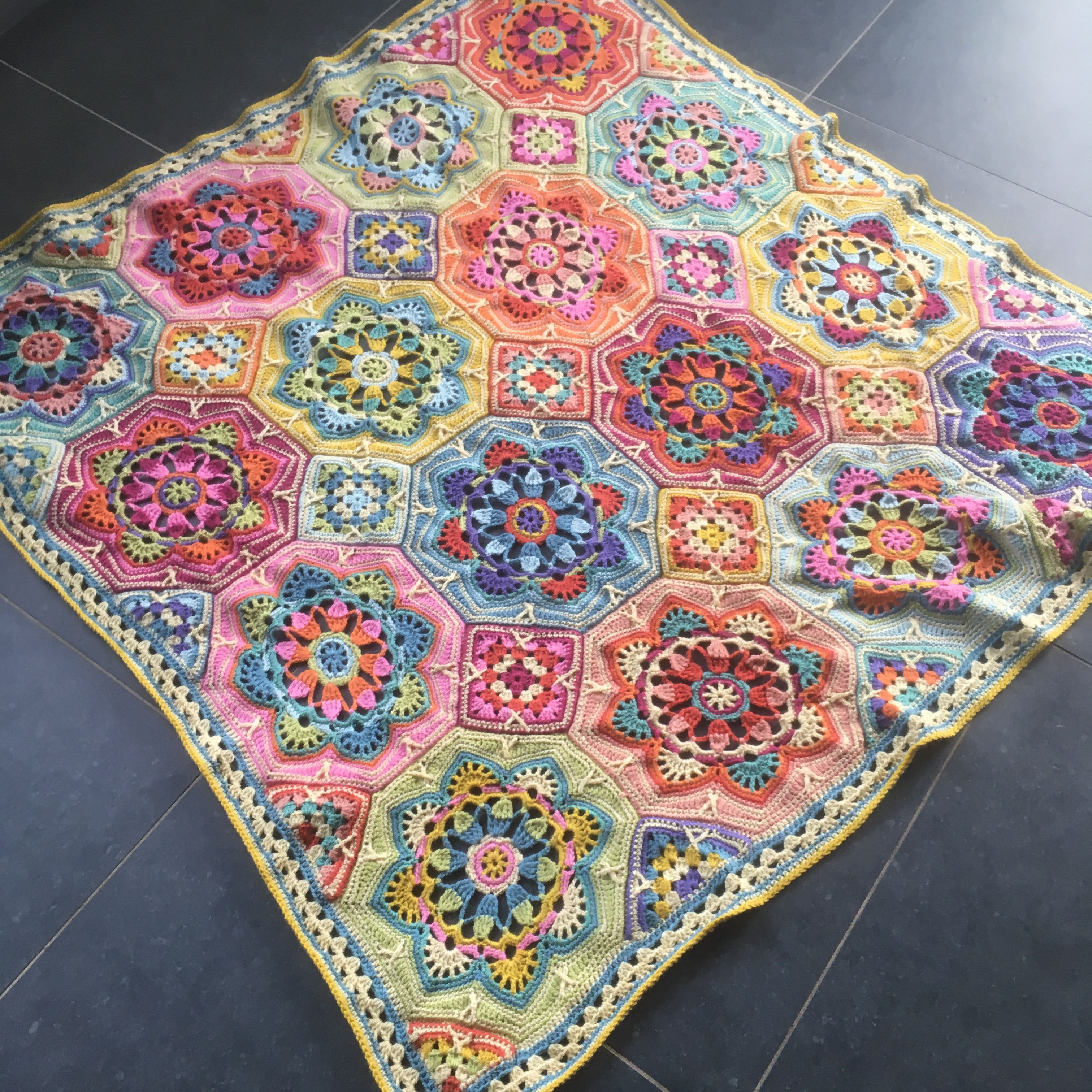 Gehaakte Deken, Patroon Persian Tiles Eastern Jewels