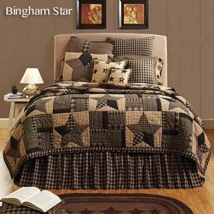 Bingham Star Quilt Bedding Collection