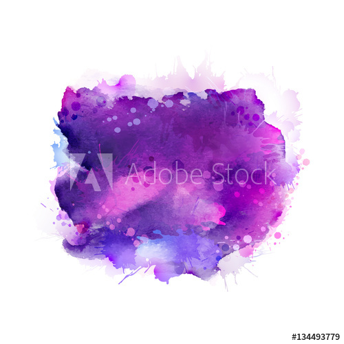 Purple Violet Lilac And Blue Watercolor Stains Bright Element For Abstract Artistic Background Buy Th In 2020 Blue Watercolor Watercolor Images Watercolor Splash