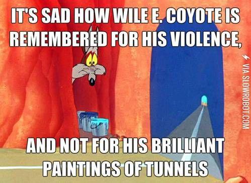 Poor Wile E.