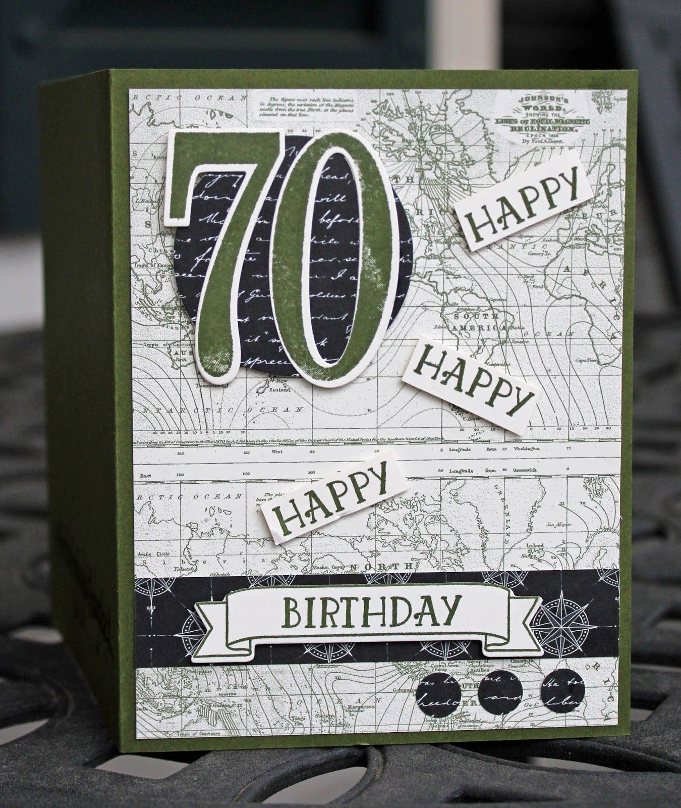 Masculine Birthday Card Using Stampin Up Number Of Years Stamp Set
