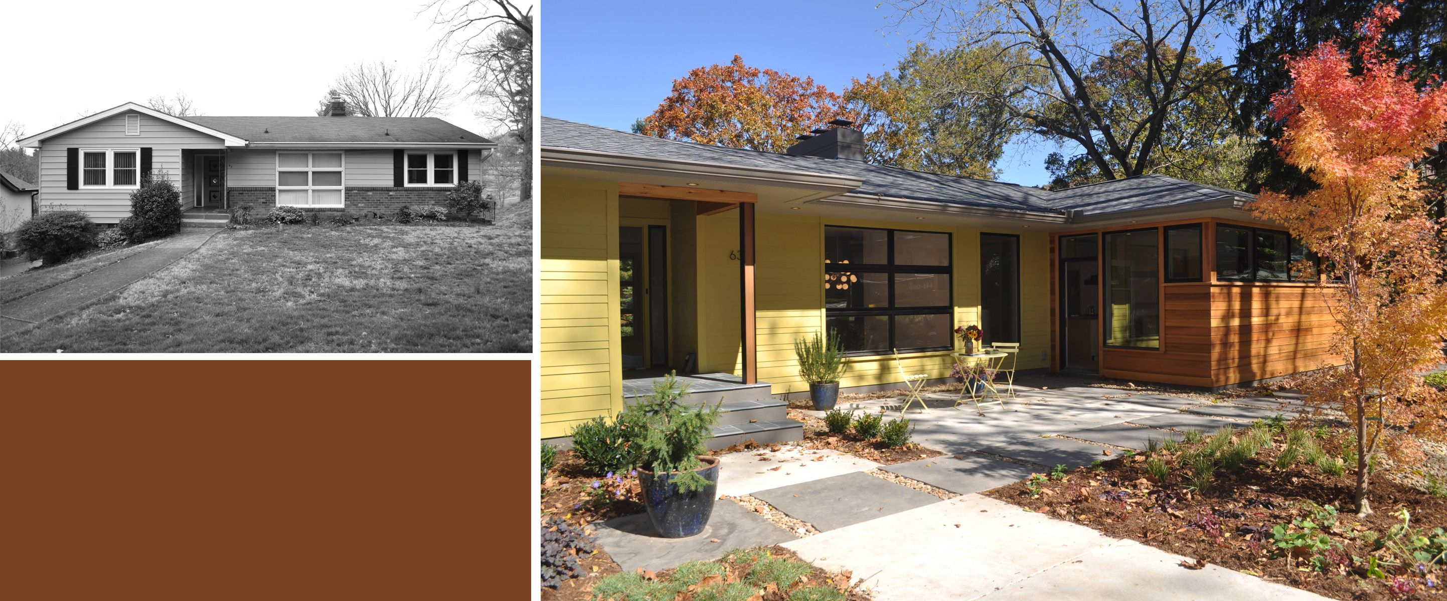 Elevation Before And After New Modern Ranch Modern House