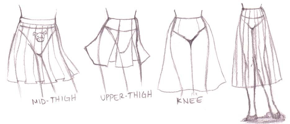 Skirt Examples Drawing Clothes