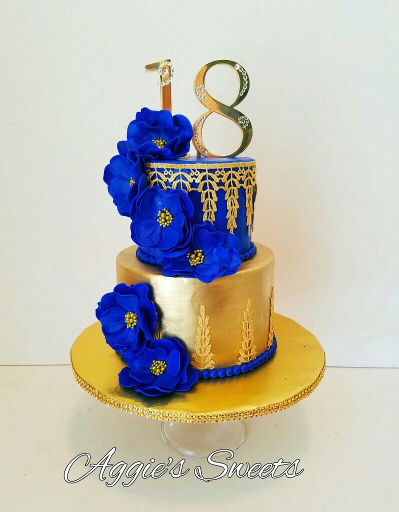 Dark Blue Cake Decorations