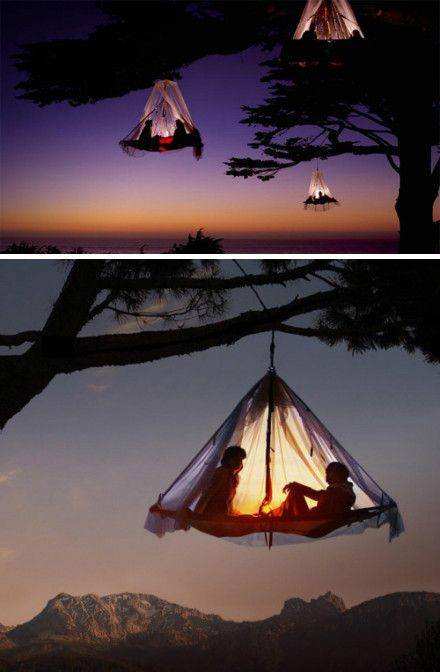 Camping sauvage...   camping   Tree tent, Hanging tent et ...