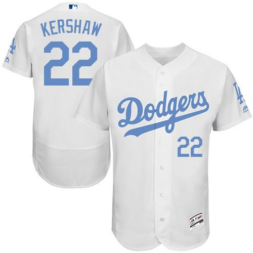 b9bcb8811 Dodgers  22 Clayton Kershaw White Flexbase Authentic Collection Father s Day  Stitched MLB Jersey