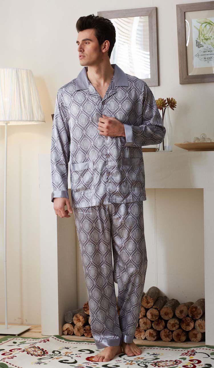 Mens Pyjama Set Long Sleeve Top /& Pants