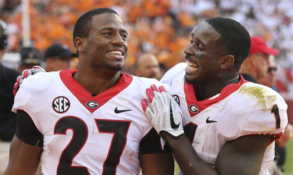 RB Nick Chubb was hilariously terrified on