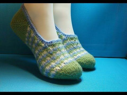островок вязания с ириной Youtube Slipper Slippers Socks