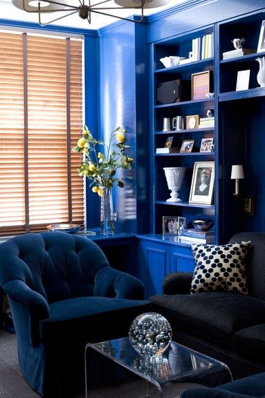 Cobalt Via Www Fromtherightbank Com Blue Living Room Navy Blue Living Room Blue Rooms