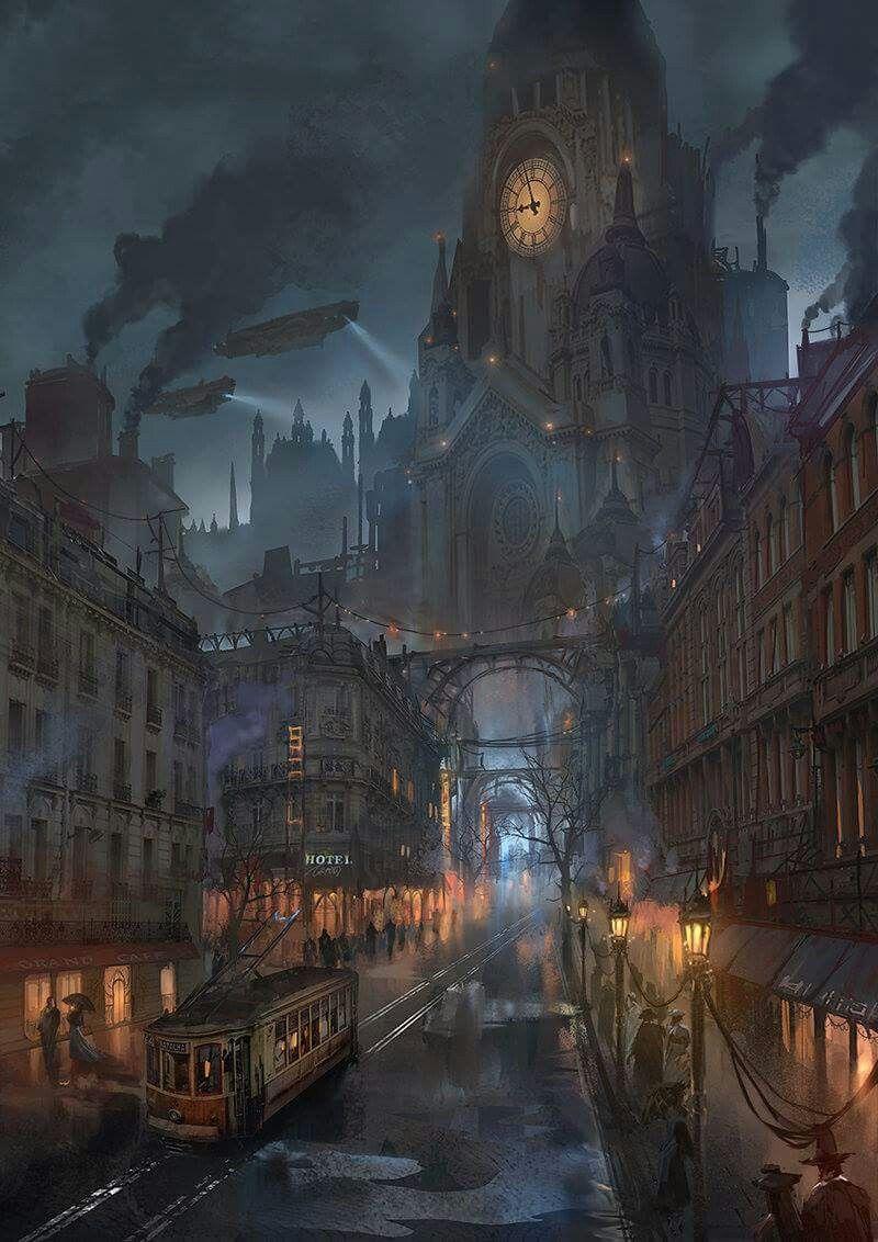 Pin Ben Hollenstein Cool Fantasy Steampunk City Art