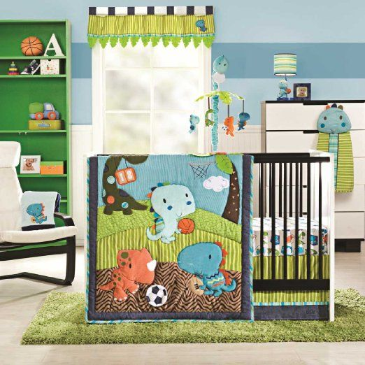 Nursery Dino Sports 5 Piece Baby Crib Bedding Set