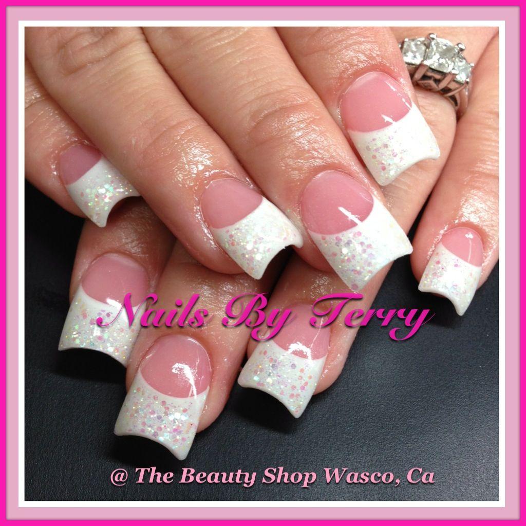 New Rockstar Acrylic Nail Designs: Pink & White With Rockstars...