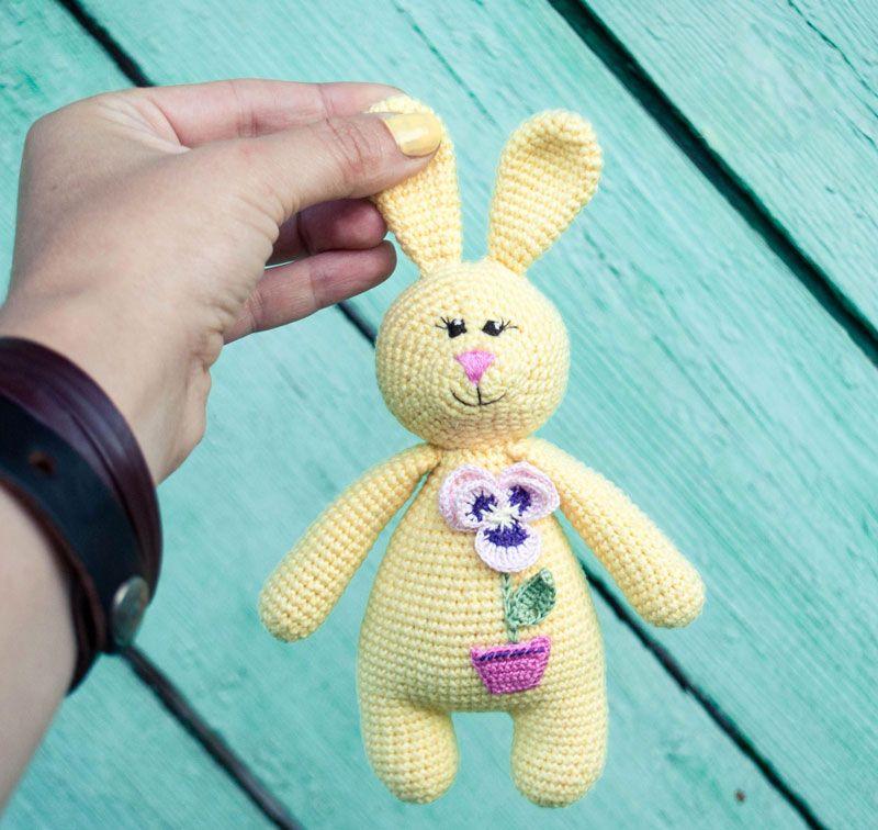 Amigurumi Rabbit Free Crochet Pattern Tcher Stricken Pinterest