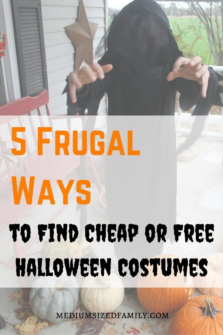 5 frugal ways to find cheap or free halloween costumes   halloween