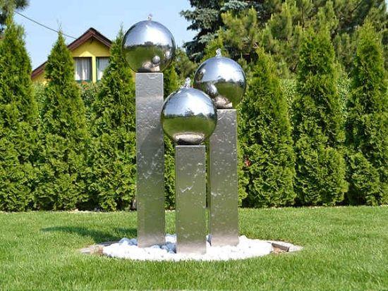 Moderne Wasserspiele Brunnen Edelstahl | Garten | Pinterest ...