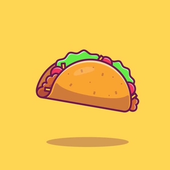 Taco Cartoon Vector Icon Illustration Fast Food Icon Concept Isolated Vector Flat Cartoon Style In 2021 Taco Cartoon Vector Icons Illustration Food Icons