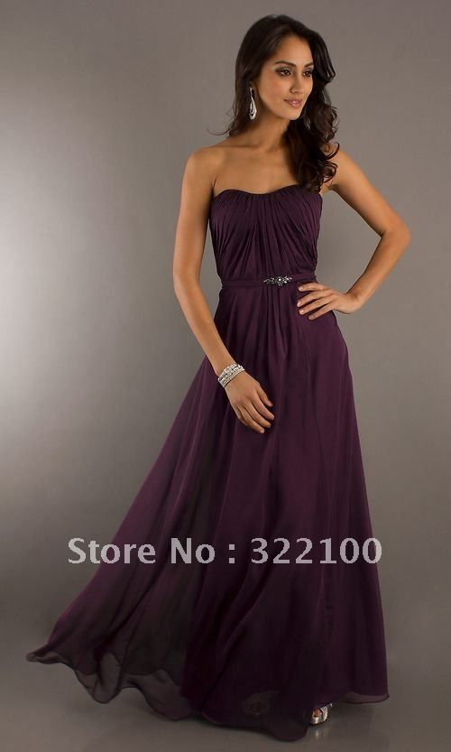 elegant chiffon long dark purple bridesmaid dress  Emily Schoenfeld  Resendez something like that for your wedding  Hmmm  Free shipping ... 68ca7b439234