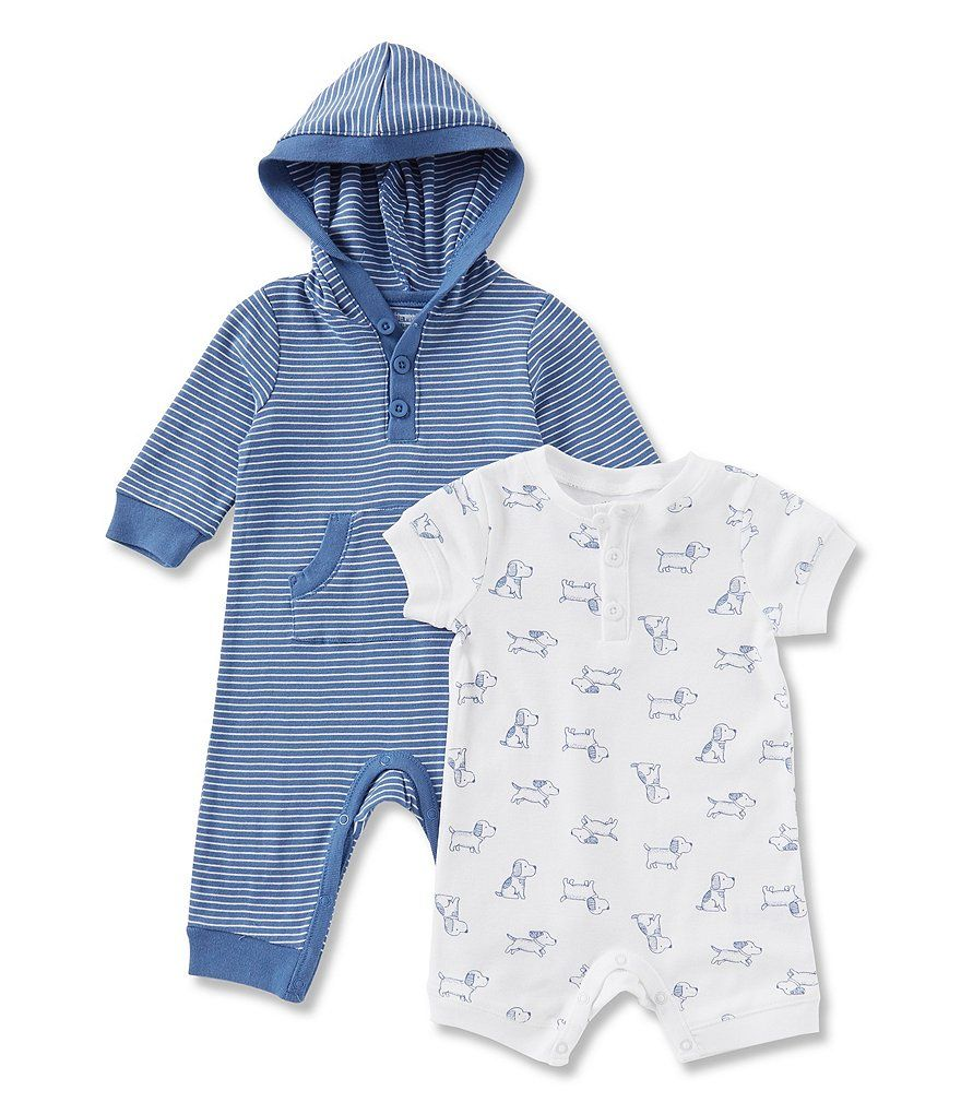 Little Me Baby 2 Pack Coverall and Romper