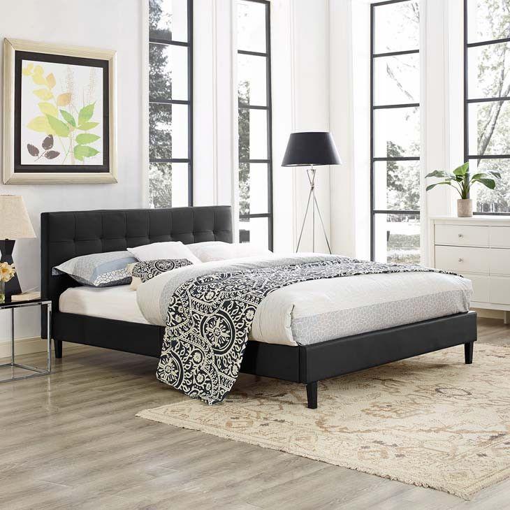 Linda Full Faux Leather Bed Frame | Leather bed frame, Bed frames ...