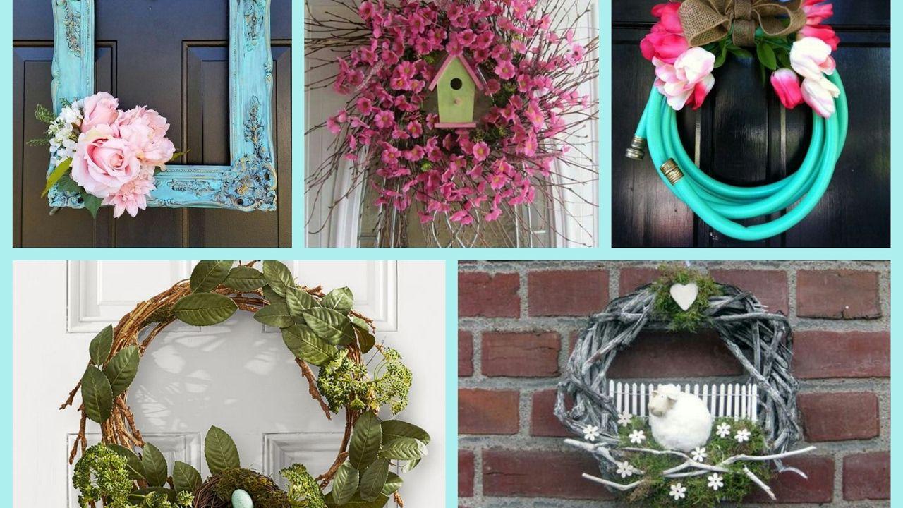 Spring Wreaths Ideas Spring Decorating Ideas Diy Wreath Ideas