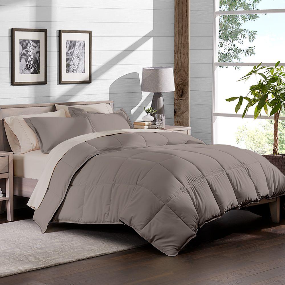 Bare Home 7 Piece Bed In A Bag Full Comforter Set Taupe Sheet Set Sand Walmart Com Comforter Sets Full Comforter Sets Dorm Bedding Sets