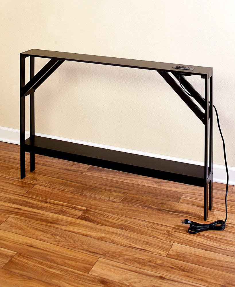 Skinny Sofa Table With Outlet Narrow Sofa Table Diy Sofa Table
