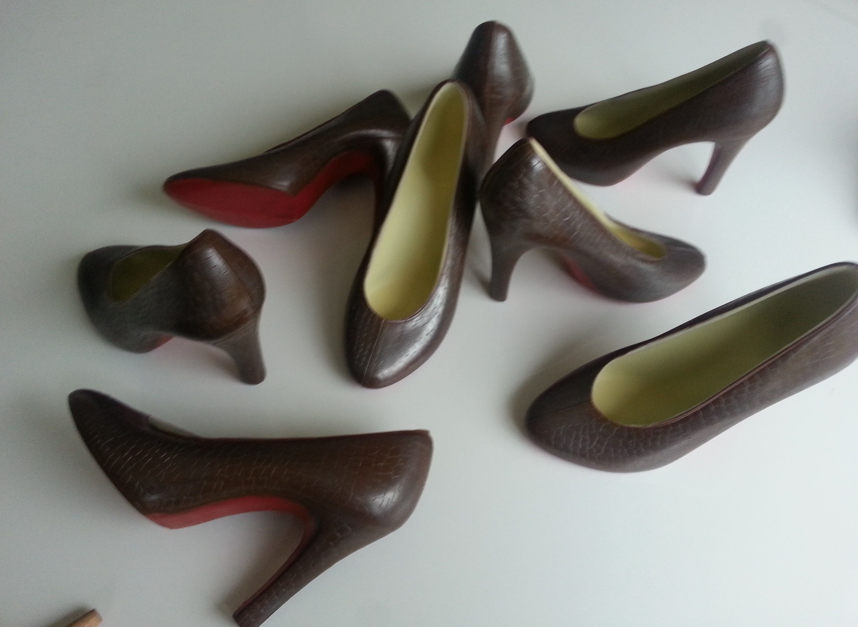 Chocolate Louboutins! Unique Christmas gift for the woman who has everything!  www.azrachoclates.co.uk Buy Online now! Free P&P on all high heel shoes.