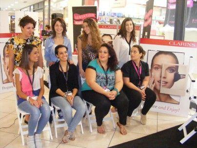 Le candidate: da sinistra Graziana Guidace, Maria D'Aguì, Anna Norcia e Simonetta Gregorio con alle spalle le rispettive modelle.