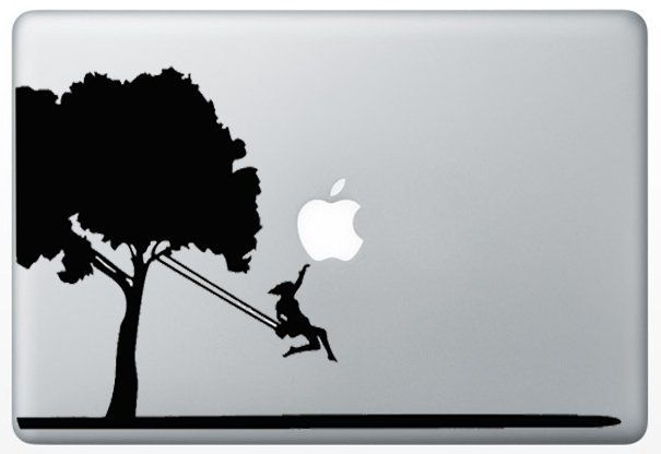 Macbook Tree Swing Humor Decal Sticker