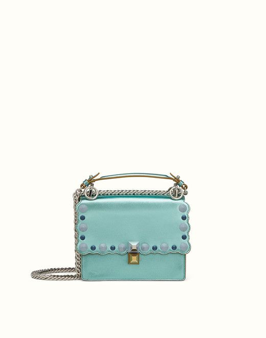 SMALL KAN I - Mini bag in light blue laminated leather. Discover the new  collections on Fendi official website. Ref  8M0381OZ8F0N59 86ec8092d8968
